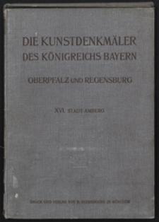 Die Kunstdenkmäler von Oberpfalz & Regensburg. H. 16. Stadt Amberg