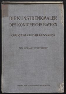 Die Kunstdenkmäler von Oberpfalz & Regensburg. H. 20. Bezirksamt Stadtamhof