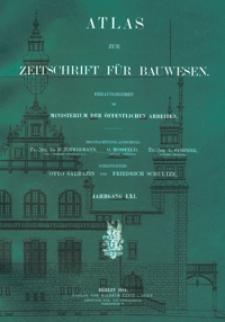 Atlas zur Zeitschrift für Bauwesen, Jg. 61, H. 1-12 (1911)