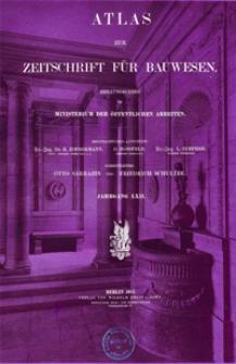 Atlas zur Zeitschrift für Bauwesen, Jg. 62, H. 1-12 (1912)