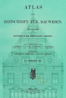 Atlas zur Zeitschrift für Bauwesen, Jg. 64, H. 1-12 (1914)