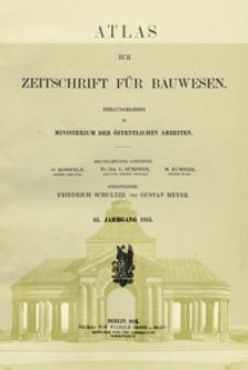 Atlas zur Zeitschrift für Bauwesen, Jg. 65, H. 1-12 (1915)