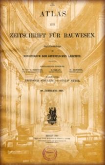 Atlas zur Zeitschrift für Bauwesen, Jg. 68, H. 1-12 (1918)