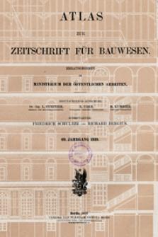 Atlas zur Zeitschrift für Bauwesen, Jg. 69, H. 1-12 (1919)
