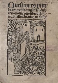 Quaestiones super octo libros Physicorum Aristotelis