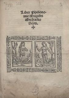 Liber Phisionomie Magistri Michaelis Scoti