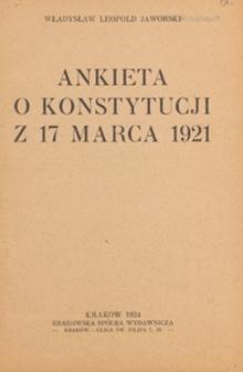 Ankieta o konstytucji z 17 marca 1921