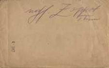puste koperty adresowane na Aleksandra Majkowskiego i inne osoby.