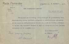 Fragmenty archiwum Rady Pomorskiej Towarzystwa Ochrony Polskości na Pomorzu
