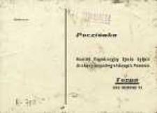 Deklaracja udziału w zjeździe byłych działaczy niepodległościowych Pomorza