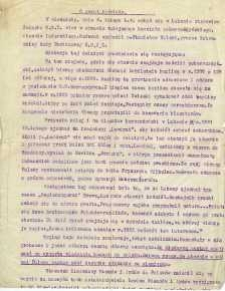 """Notatka - """"O zwrot kościoła"""" - dotyczy zwrotu katolikom kościoła pobernardyńskiego w Lubawie"""