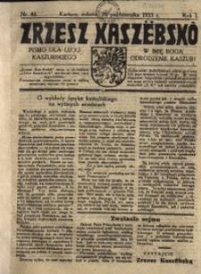 Zrzesz Kaszëbskô. Pismo dla ludu kaszubskiego. W imię Boga odrodzenie Kaszub!, nr.44, 1933