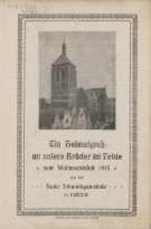 """Ein Heimatgruß an unsere Brüder im Felde """"zum Weihnachtsfest 1915"""" : aus der Sankt Johannisgemeinde in Danzig"""