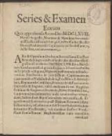 Series & Examen Eorum Quæ apprehensa Anno Dni MDCLXVIII. Mense Augusto, Nomine & Mandato Serenissimi Electoris Brandeburgici [...] Drahimensis Capitaneatus Possessione, Acta sunt, vel intervenere