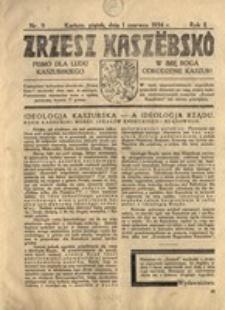 Zrzesz Kaszëbskô. Pismo dla ludu kaszubskiego. W imię Boga odrodzenie Kaszub!, nr.9, 1934