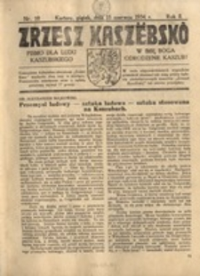 Zrzesz Kaszëbskô. Pismo dla ludu kaszubskiego. W imię Boga odrodzenie Kaszub!, nr.10, 1934