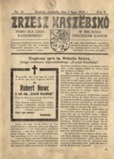 Zrzesz Kaszëbskô. Pismo dla ludu kaszubskiego. W imię Boga odrodzenie Kaszub!, nr.11, 1934