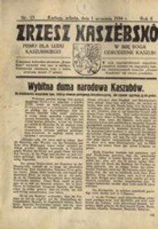 Zrzesz Kaszëbskô. Pismo dla ludu kaszubskiego. W imię Boga odrodzenie Kaszub!, nr.15, 1934