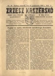 Zrzesz Kaszëbskô. Pismo dla ludu kaszubskiego. W imię Boga odrodzenie Kaszub!, nr.18, 1934
