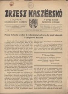 Zrzesz Kaszëbskô. Cządnjik Kaszebskjich. V Mjono Boskji Norodni Vzenjik, nr.1, 1937