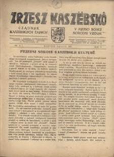 Zrzesz Kaszëbskô. Cządnjik Kaszebskjich. V Mjono Boskji Norodni Vzenjik, nr.8, 1937