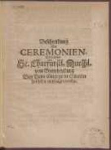 Beschreibung Der Ceremonien, mit welchem Se. Churfürstl. Durchl. von Brandenburg Bey Dero Einzuge in Stettin hat sollen empfangen werden
