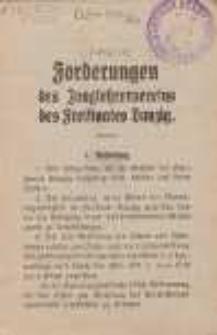 Forderungen des Junglehrervereins des Freistaates Danzig