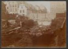 [7. 10. 1909 Danzig Ausschachtungsarbeiten zum Fundament für die Methodistiche Gemeinde an der Näthlergasse]