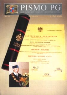 Pismo PG : pismo pracowników i studentów Politechniki Gdańskiej, 2001, R. 9, nr 5 (Maj)
