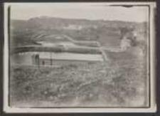 [7.10.21 Stand: Oben auf Bastion Maidloch Blick vom Bastion Maidloch nach dem leegen Tore u[nd] Bastion Gertrud]