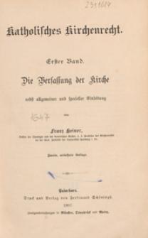 Katholisches Kirchenrecht. Bd. 1, Die Verfassung der Kirche