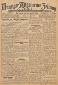 Danziger Allgemeine Zeitung, 1922.01.24 nr 20