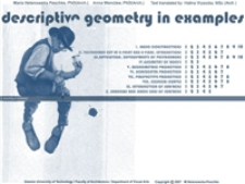 Descriptive geometry in examples