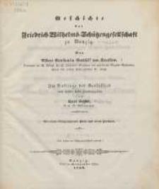 Geschichte der Friedrich-Wilhelms-Schützengesellschaft zu Danzig