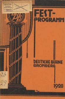 Fest-Programm zum 8-jährigen Bestehen der Deutschen Bühne Bromberg am Sonntag, dem 11. November 1928