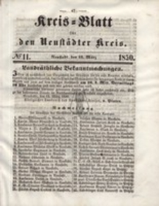 Kreis=Blatt fur den Neustadter Kreis, nr.11,1850