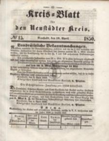 Kreis=Blatt fur den Neustadter Kreis, nr.15,1850