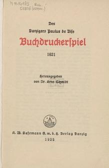 Des Danzigers Paulus de Vise Buchdruckerspiel 1621
