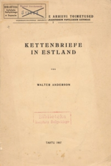 Kettenbriefe in Estland