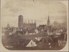 [Widok ogólny Gdańska od południowego zachodu, ok. 1870 r.]
