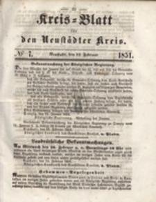 Kreis=Blatt fur den Neustadter Kreis, nr.7,1851