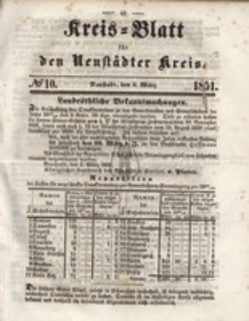 Kreis=Blatt fur den Neustadter Kreis, nr.10,1851