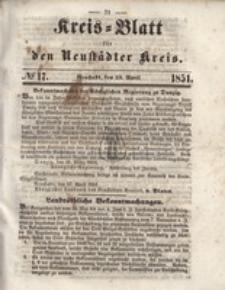 Kreis=Blatt fur den Neustadter Kreis, nr.17,1851