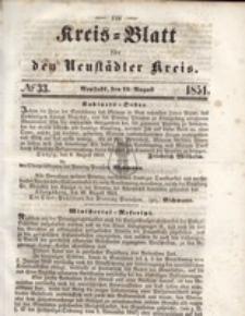 Kreis=Blatt fur den Neustadter Kreis, nr.33,1851