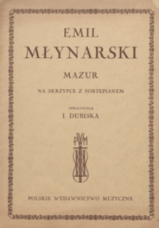 Mazur G-dur : na skrzypce z fortepianem / oprac. Irena Dubiska