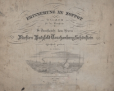 Erinnerung an Zoppot : Walzer : E-dur : für das Pianoforte