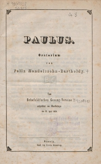 Paulus : Oratorium