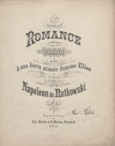 Romance cis-moll : op.8 : pour le piano