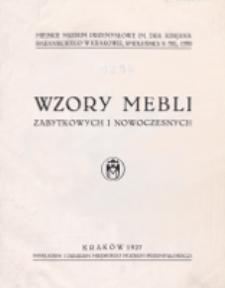 Wzory Mebli Zabytkowych i Nowoczesnych. 1927