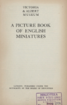 A picture book of English miniatures